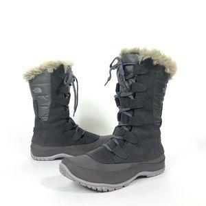 The North Face Nuptse Purna winter snow boots gray